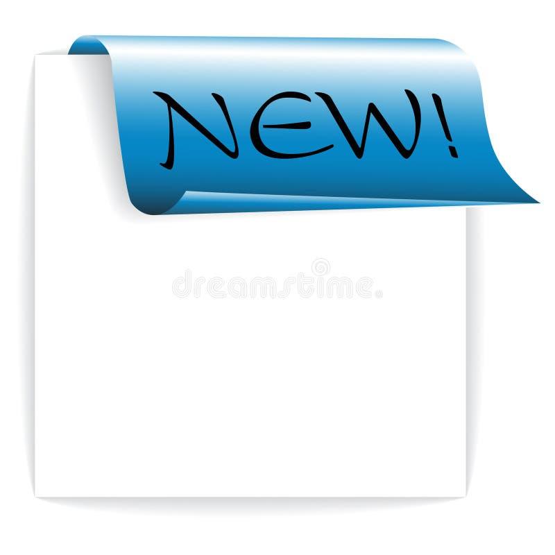 Vers blauw lint/document - referentie royalty-vrije illustratie