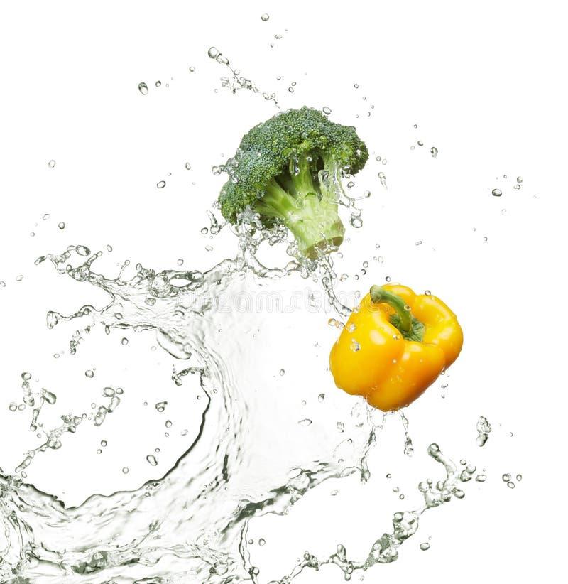 Vers broccoli en capsicum royalty-vrije stock foto's