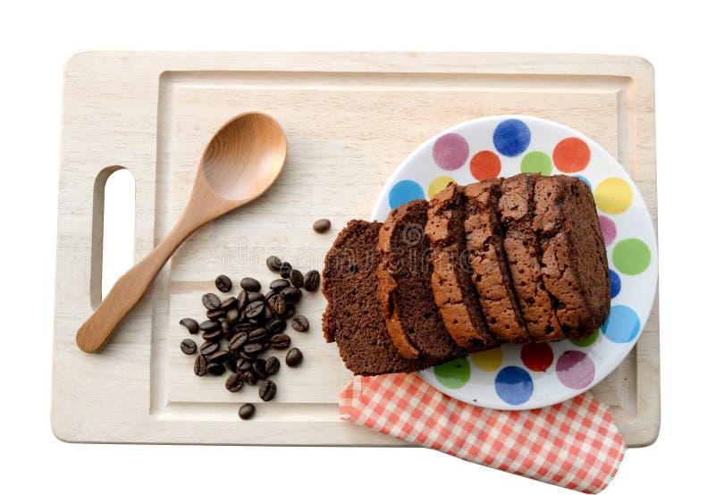 Vers Chocoladebrood op Wit geïsoleerde achtergrond (het knippen weg) stock afbeeldingen