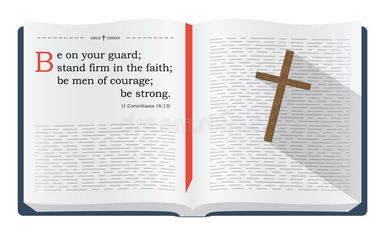 Vers de bible au sujet d'être sur la garde illustration de vecteur