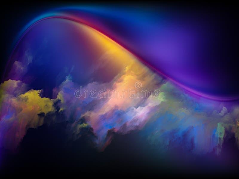 Vers des couleurs de Digital illustration stock