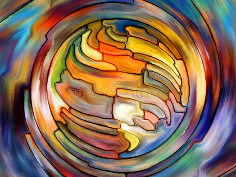 Vers Digital verre souillé illustration de vecteur