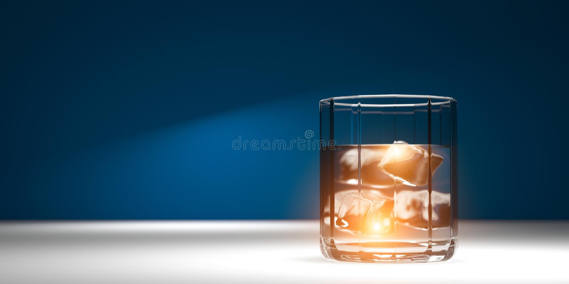 Vers duidelijk water De drank van de trainingpartij Realistische 3d geeft terug 3D Illustratie stock illustratie