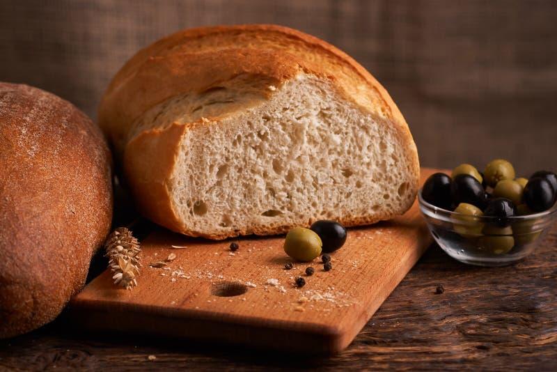 Vers Eigengemaakt Brood kernachtig Brood bij zuurdeeg Ongedesemd brood Dieet brood royalty-vrije stock afbeelding