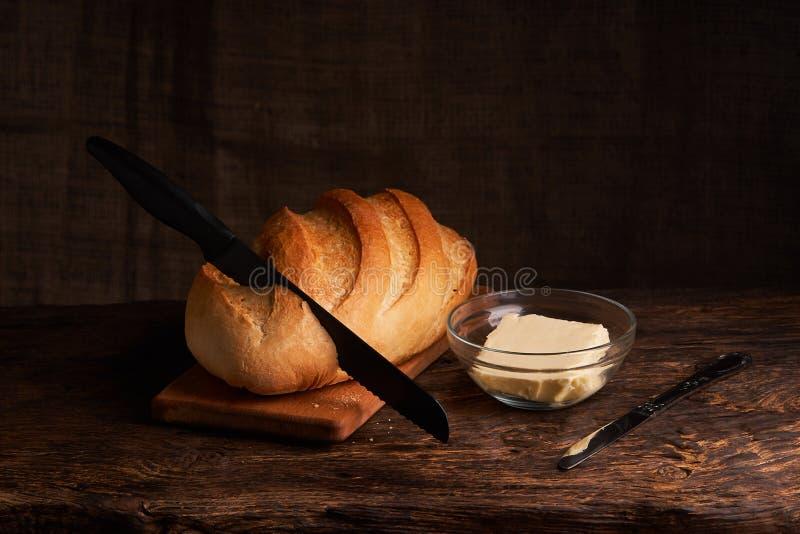 Vers Eigengemaakt Brood kernachtig Brood bij zuurdeeg Ongedesemd brood Dieet brood royalty-vrije stock afbeeldingen