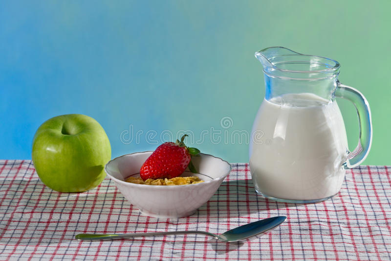 Vers en gezond ontbijtconcept stock foto