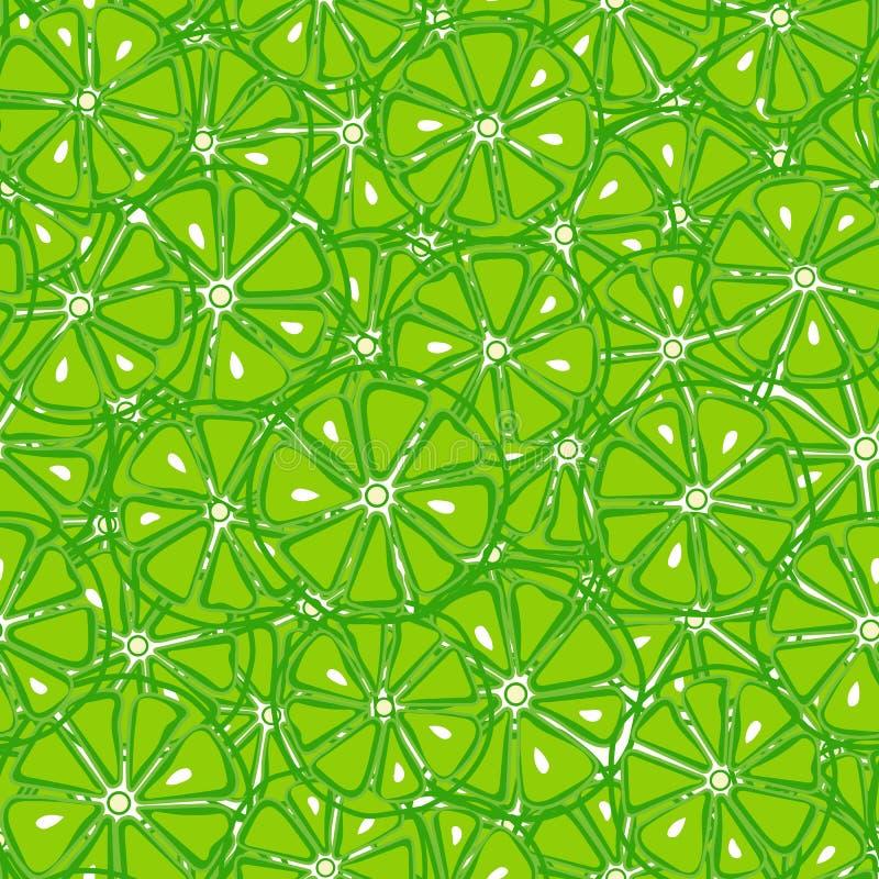 Vers en yummy groen kalk naadloos patroon royalty-vrije illustratie