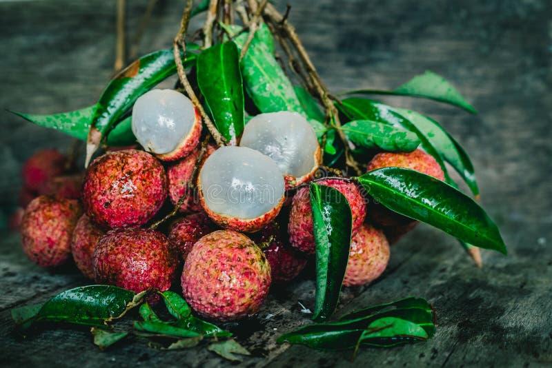 Vers en zoet litchi van Thailand stock foto