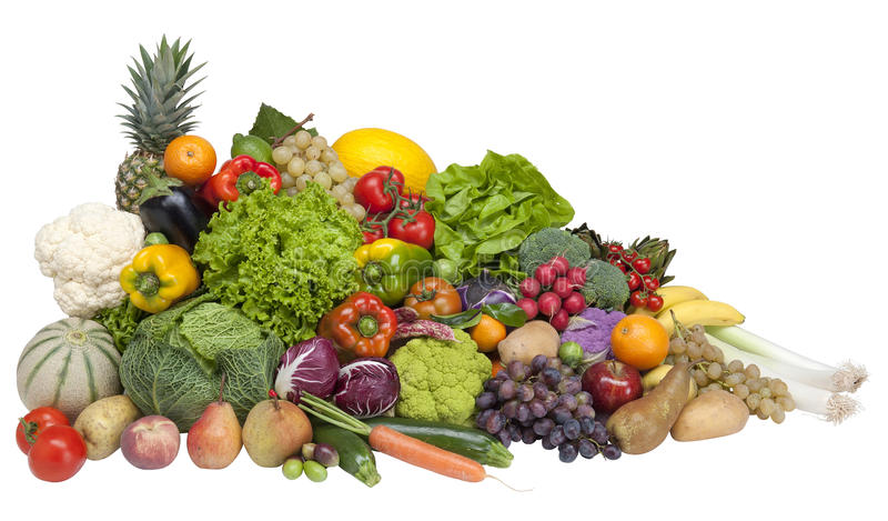 Vers fruit en groente royalty-vrije stock foto's