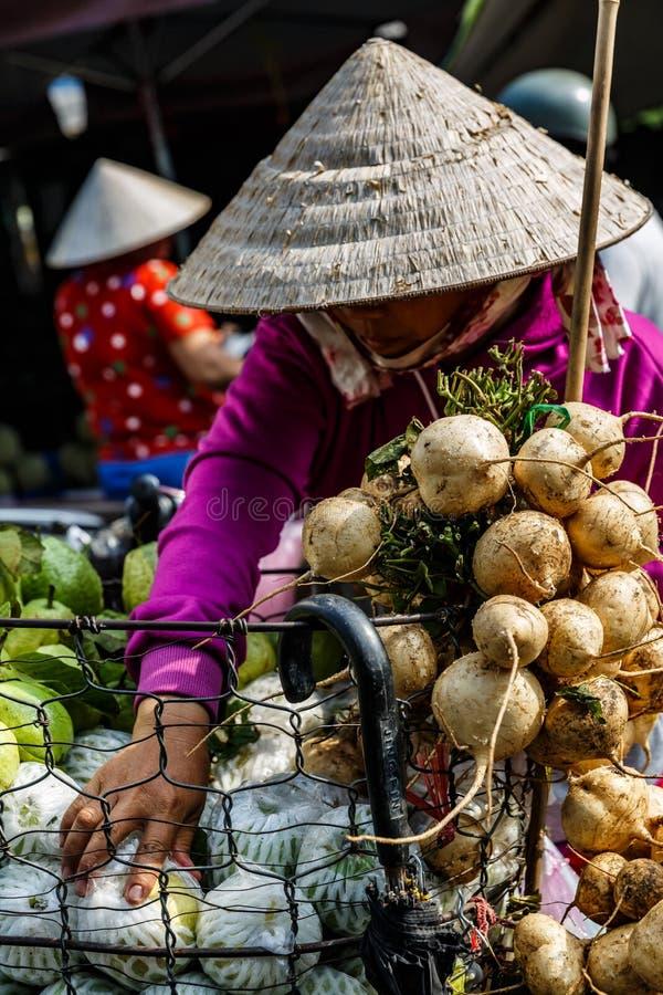 Vers fruit en plantaardige winkel, Saigon, Zuiden van Vietnam royalty-vrije stock afbeelding