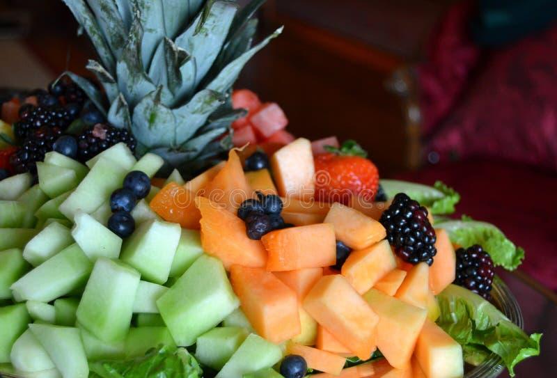 Vers fruitdienblad stock afbeelding