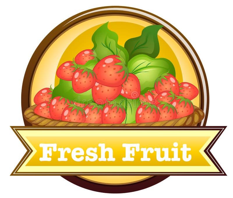Vers fruitetiket vector illustratie