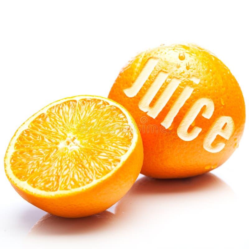 Vers fruitig jus d'orange stock afbeelding