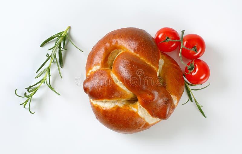 Vers gebakken broodje stock foto's