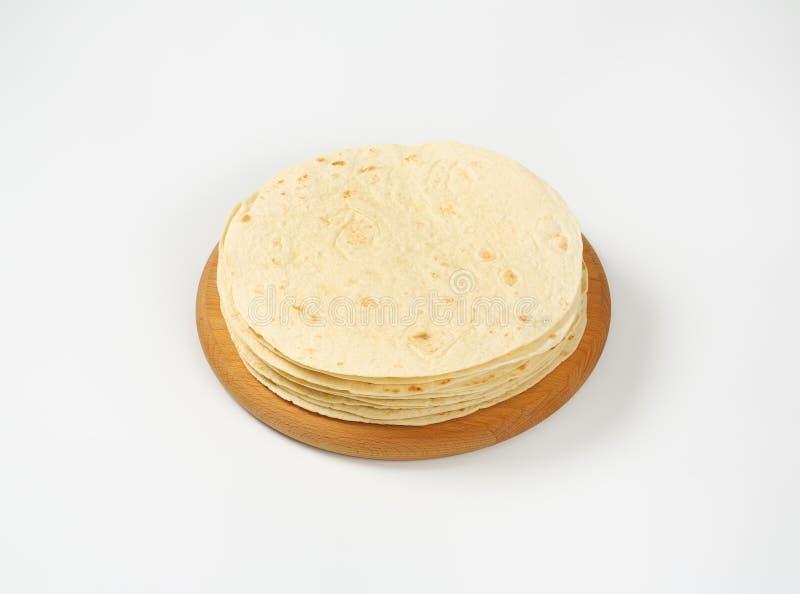 Vers gebakken tortilla's stock fotografie