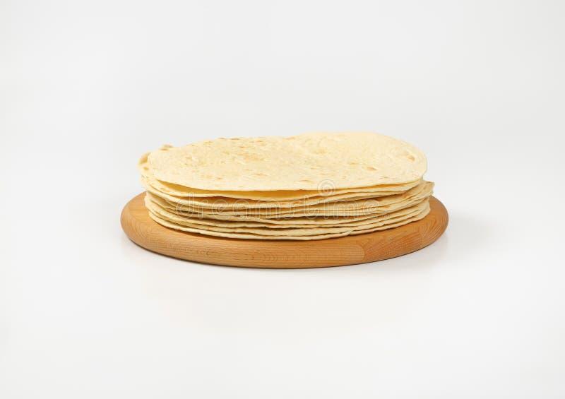 Vers gebakken tortilla's royalty-vrije stock afbeelding