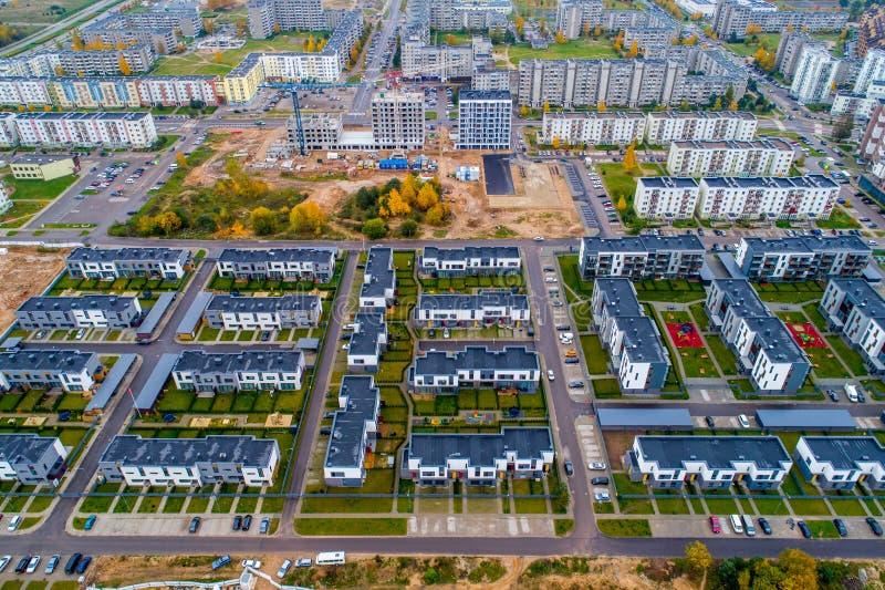 Vers gebouwd district, luchtmening royalty-vrije stock foto's
