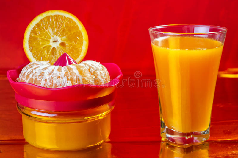 Vers gedrukt jus d'orange stock fotografie