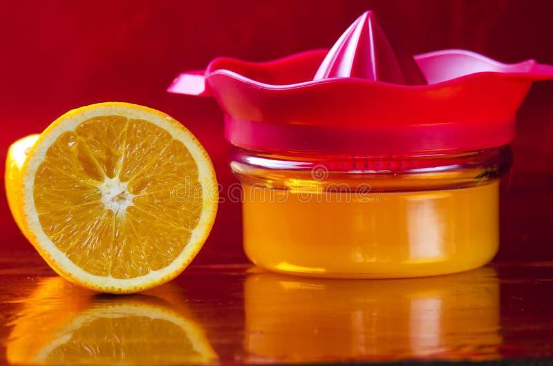 Vers gedrukt jus d'orange royalty-vrije stock afbeelding