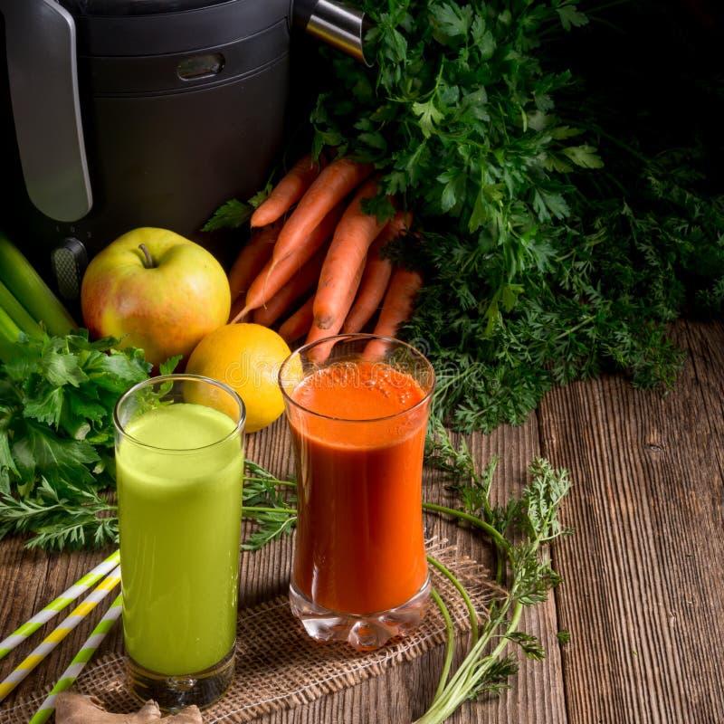 Vers gedrukte groentesappen royalty-vrije stock foto