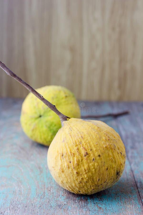 Vers geel santolsfruit stock foto