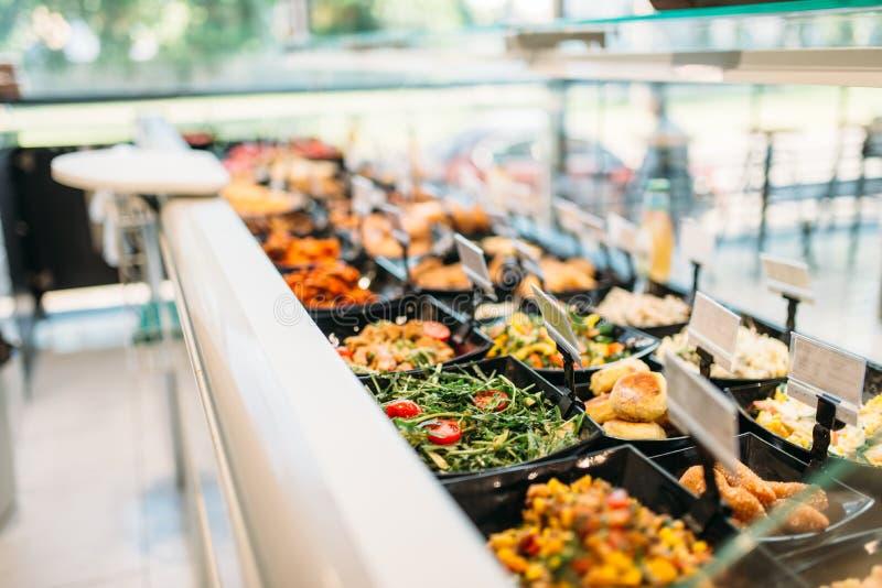 Vers gekookt voedsel in opslag, niemand royalty-vrije stock fotografie