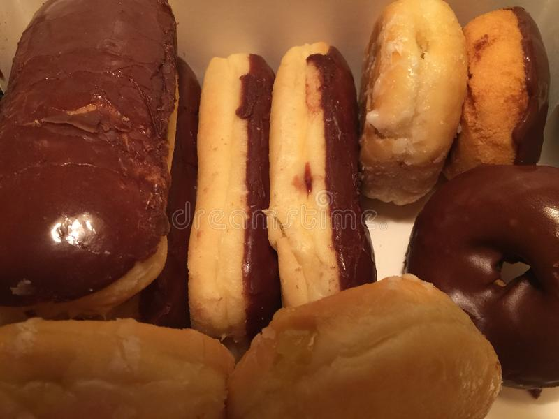 Vers gemaakt donuts stock foto's