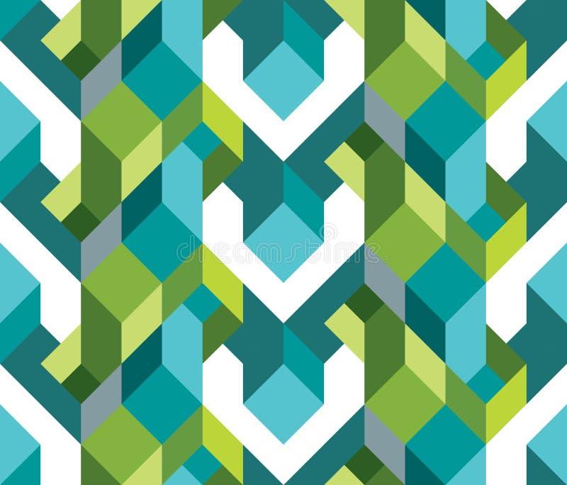 Vers geometrisch thema van patroon stock illustratie