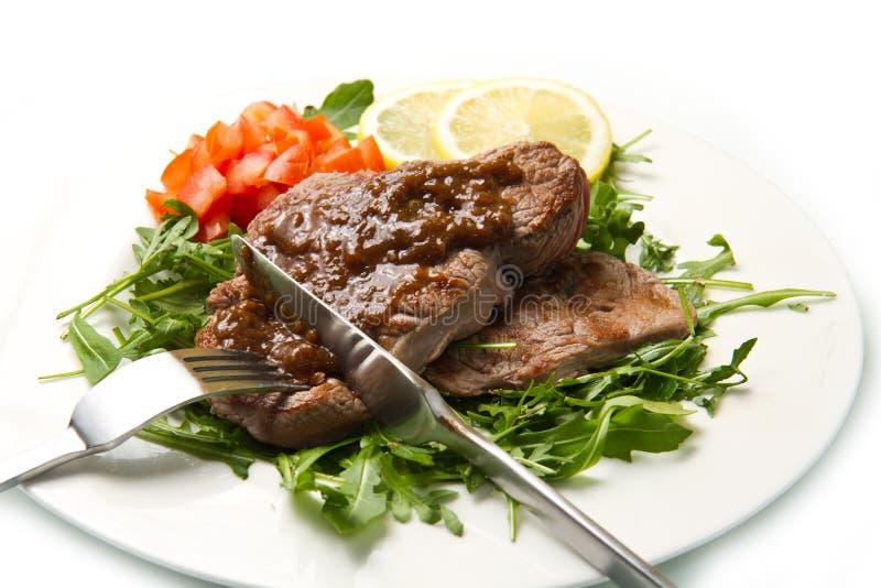Vers geroosterd rood vlees stock foto