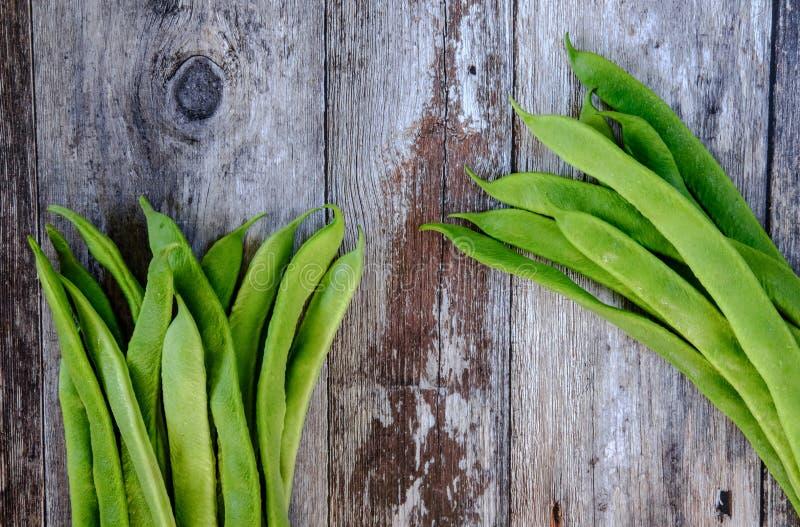 Vers gewassen, inlandse pronkbonen klaar om in een maaltijdingrediënt worden gebruikt royalty-vrije stock afbeelding