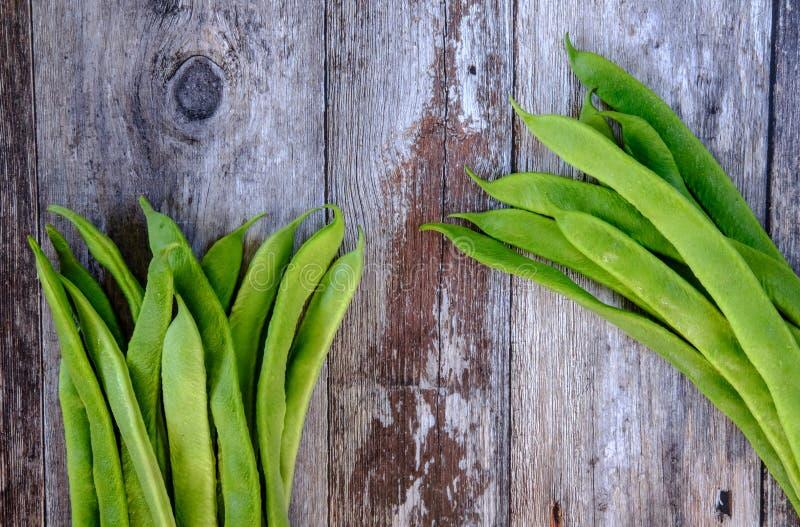 Vers gewassen, inlandse pronkbonen klaar om in een maaltijdingrediënt worden gebruikt stock fotografie