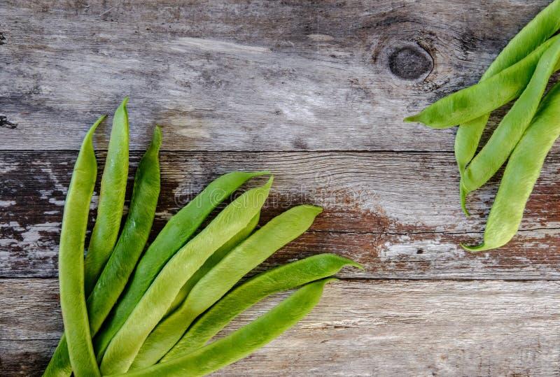 Vers gewassen, inlandse pronkbonen klaar voor voedselvoorbereiding royalty-vrije stock fotografie