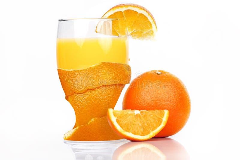 Vers Glas jus d'orange stock foto
