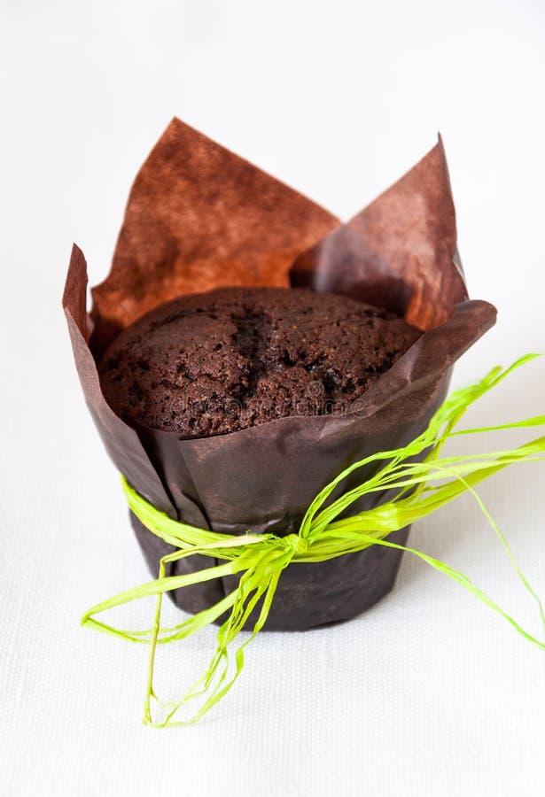 De muffin van de chocolade stock foto