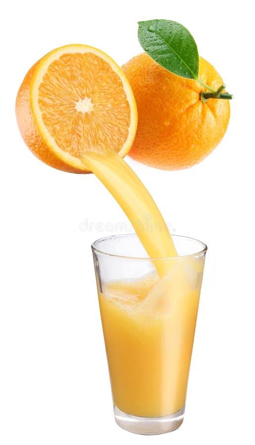 Vers jus d'orange. royalty-vrije stock foto's