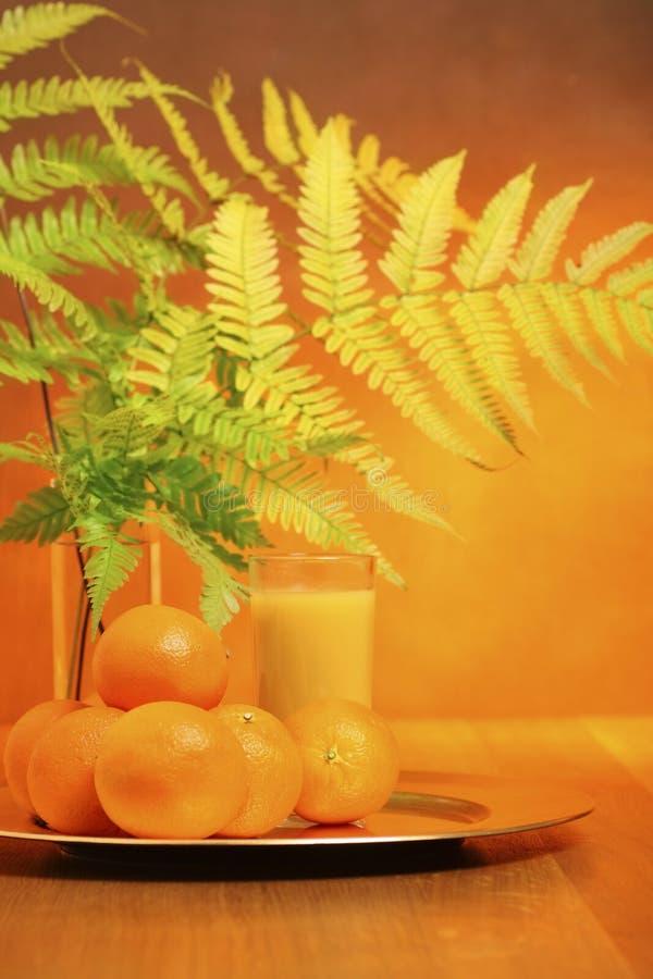 Vers jus d'orange stock foto
