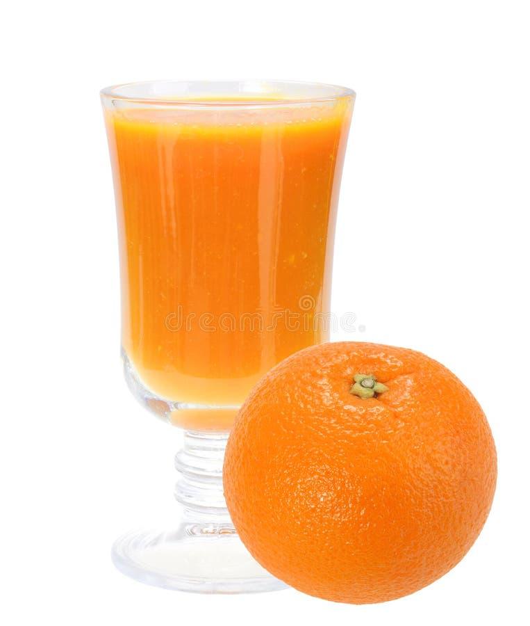 Vers Jus D Orange En Volledig Oranje-fruit Stock Foto