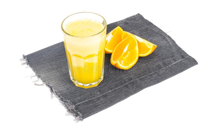 Vers jus d'orange met pulp, gezond voedsel royalty-vrije stock foto's