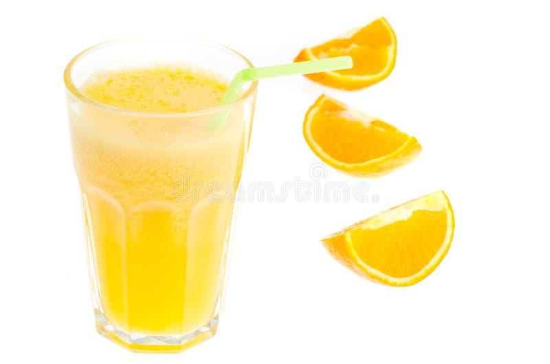 Vers jus d'orange met pulp, gezond voedsel stock afbeeldingen