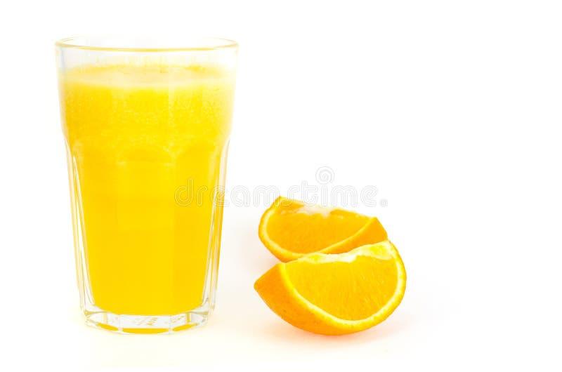 Vers jus d'orange met pulp, gezond voedsel stock foto's