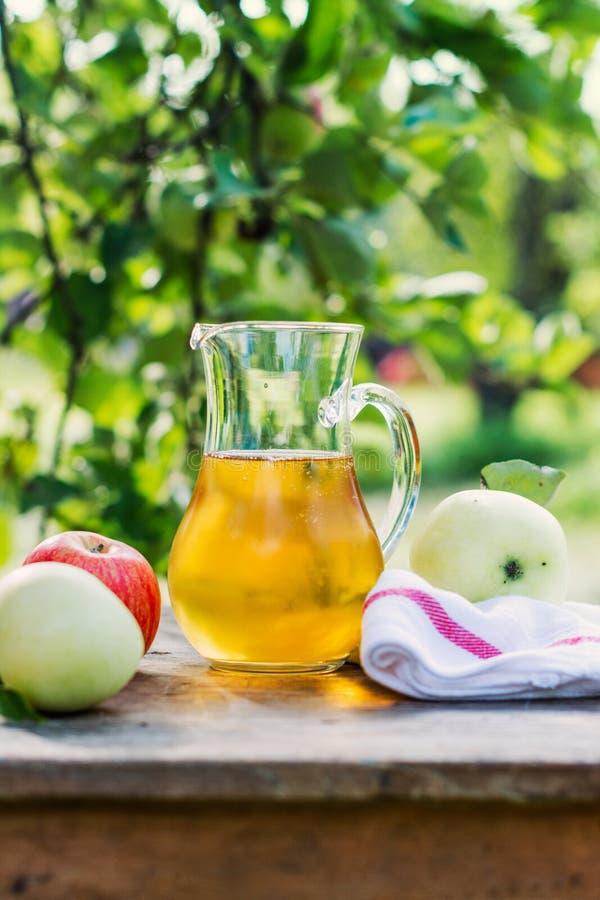 Vers koud appelsap royalty-vrije stock afbeelding