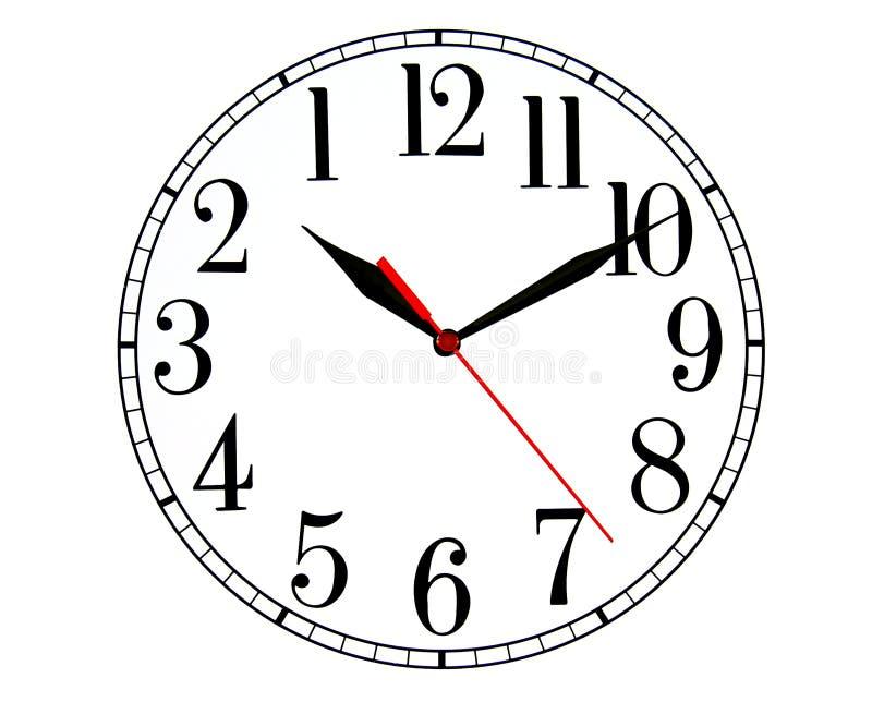 Vers l'arrière horloge illustration libre de droits