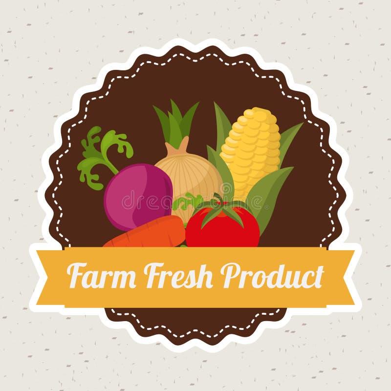 Vers landbouwbedrijf stock illustratie