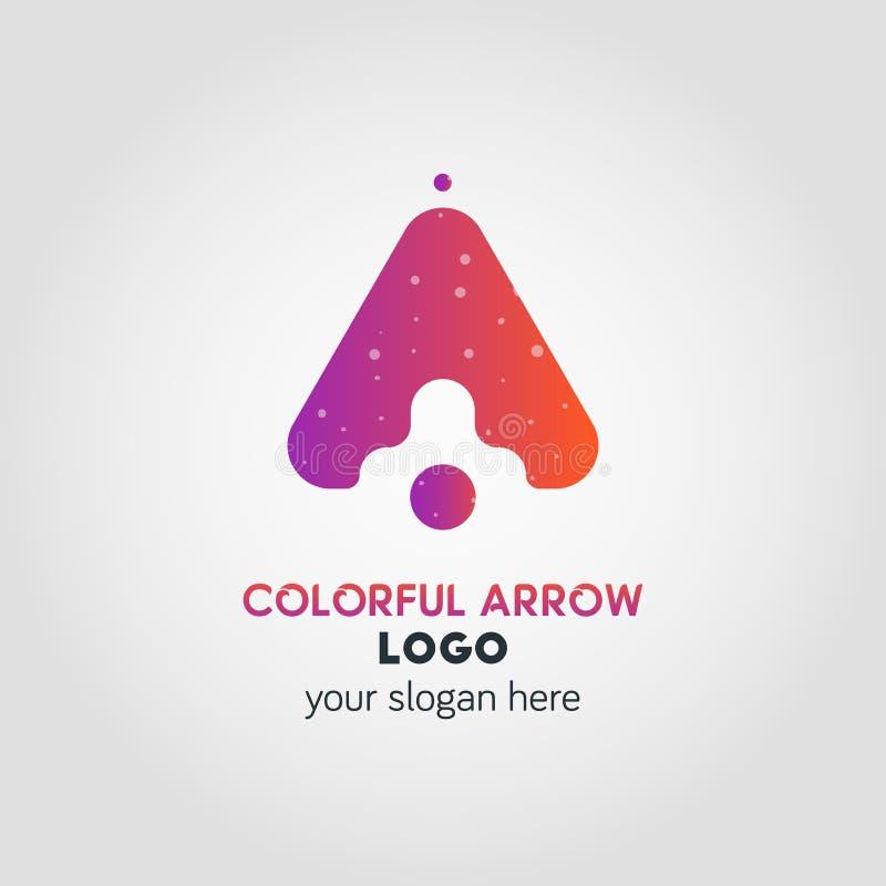 Vers le haut de l'effet de Logo Template Using Double Exposure d'affaires de flèche illustration libre de droits