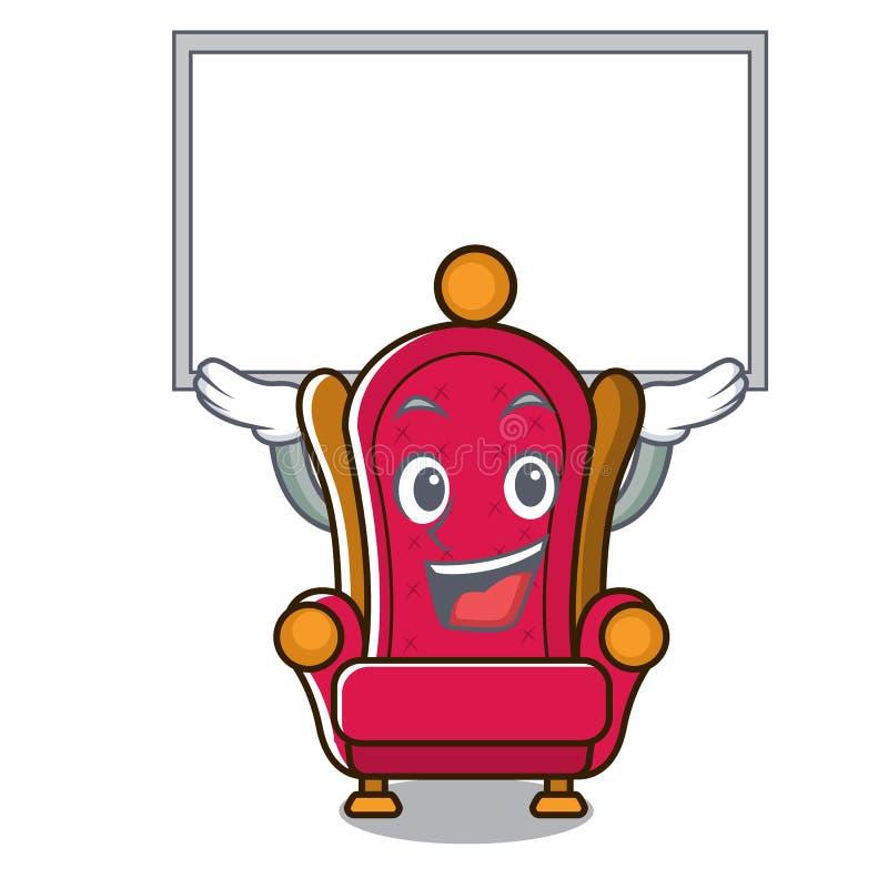 Vers le haut de la bande dessinée de caractère de trône de roi de conseil illustration stock