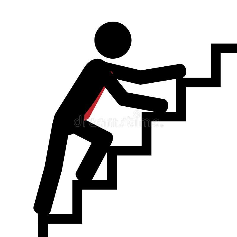 Vers le haut de sur les escaliers illustration de vecteur