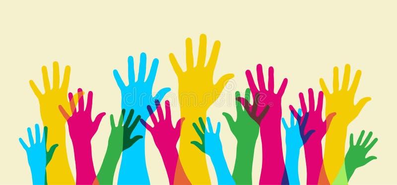 Vers le haut de votre main. illustration libre de droits