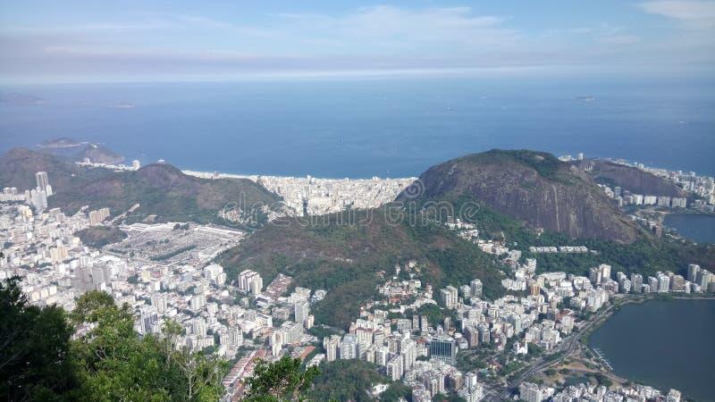 Vers le haut du cristo de Rio de Janeiro Brasil images libres de droits
