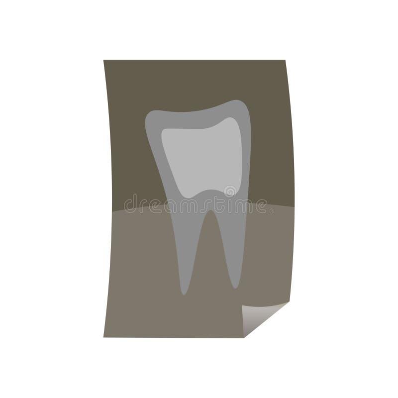 Vers x-ray beeld van gezonde of zieke tand voor medisch stock illustratie