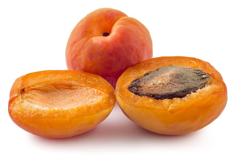 Vers riped abrikozen stock foto's